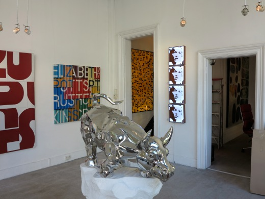 interactive light box installation